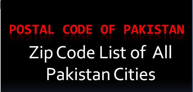 Pakistan city name with R postal code  – Postal Code | Post Code | Postcode | ZIP Code ✉️