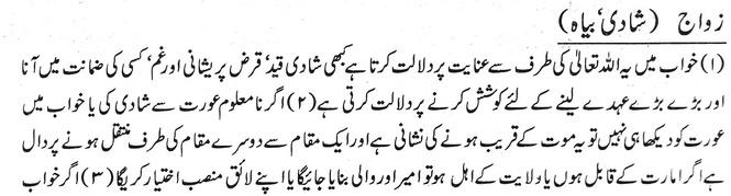 khawab main shadi biyah dekhna | Khawab Ki Tabeer