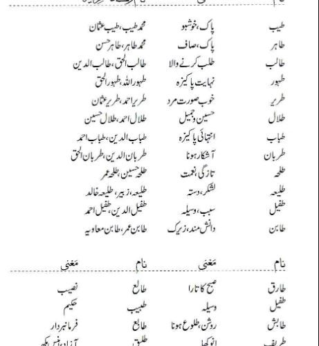 Modren Names For Boys Starting With Toay