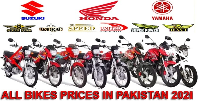 Prices of all bikes in big cities of Pakistan 2021
