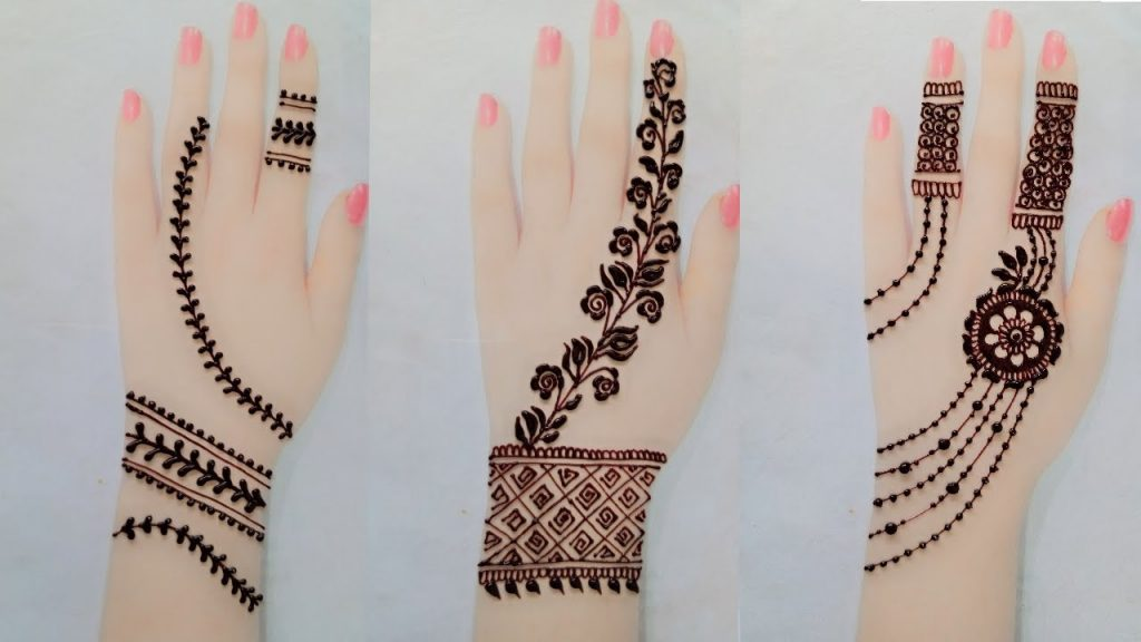 mehndi designs back hand simple